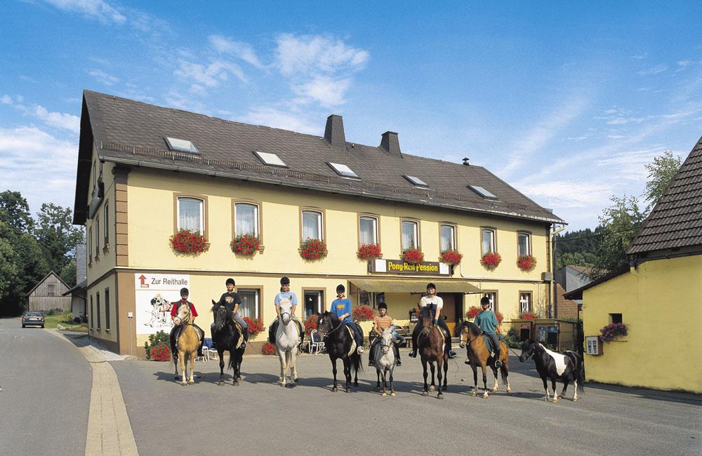 Ponyhof, Pferdetourismus Steinbach in Oberfranken.